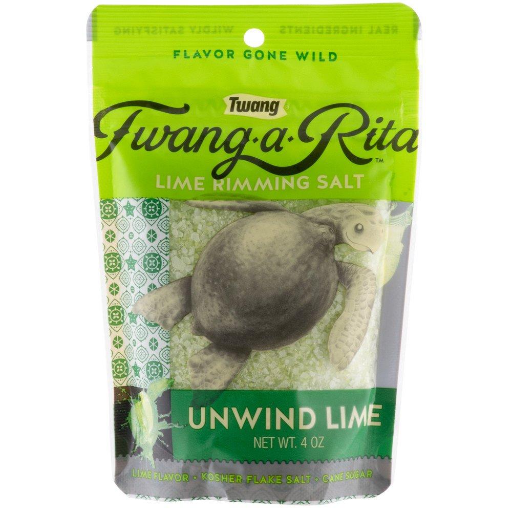 Twang Unwind Lime Rimming Salt - 4 oz. Pack of 10 by TableTop King (Image #1)