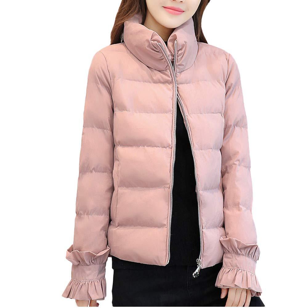 Pandaie Womens OUTERWEAR レディース B07JH8N6L5 Medium|ピンク ピンク Medium
