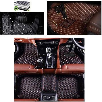 Black Car Mats for Mercedes C Class W204 Saloon 07/> Auto Grey Leather Trim