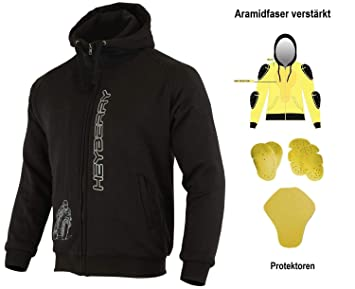 HEYBERRY Soft Shell Motorradjacke Textil Schwarz Gr. 7XL
