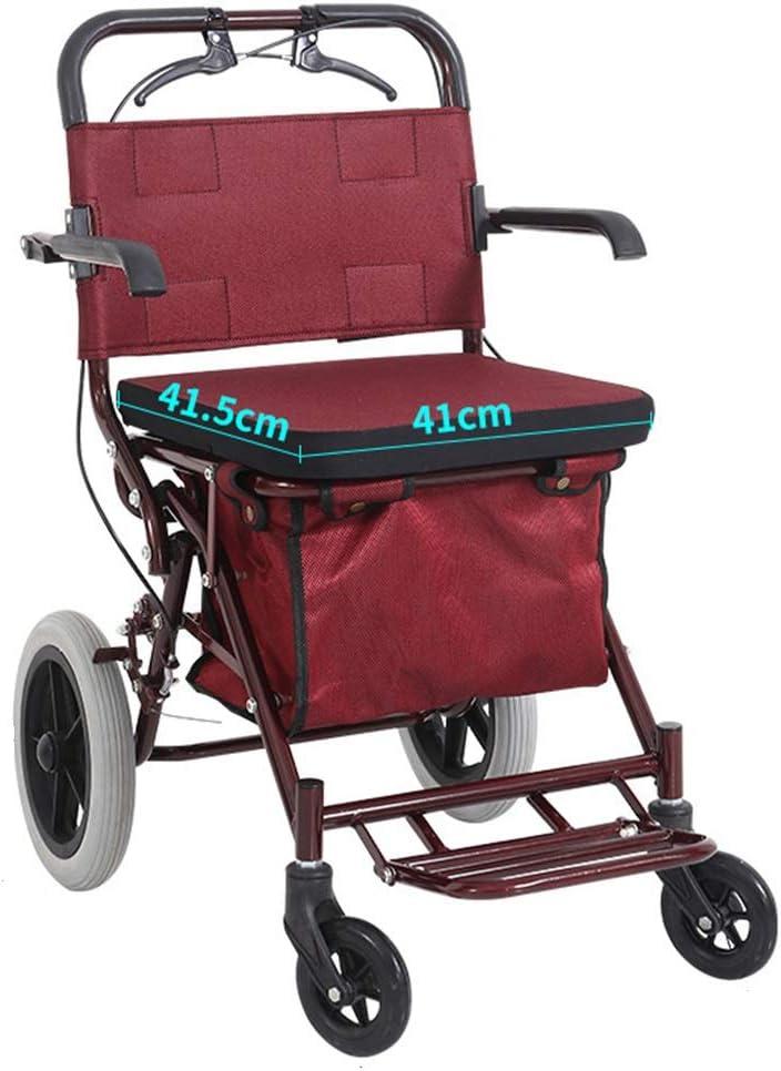 Ayuda a Caminar Rollator Walker Cable De Freno De Repuesto con Respaldo Y Pedal Ayuda De Movilidad Ayuda Altura Ajustable
