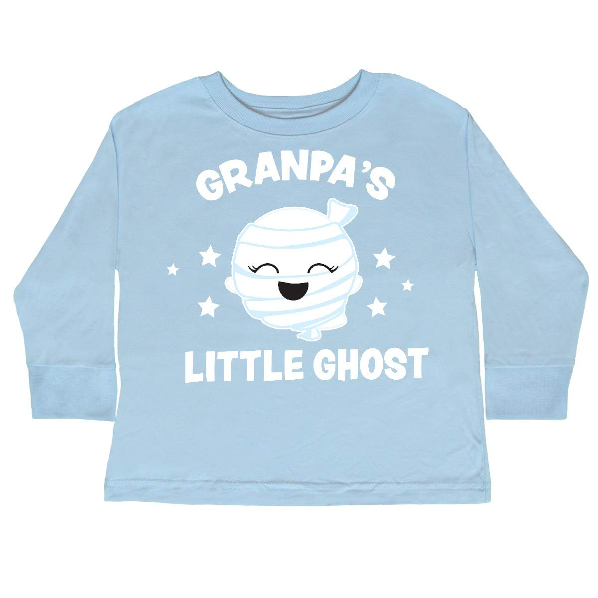 inktastic Cute Granpas Little Ghost with Stars Toddler Long Sleeve T-Shirt