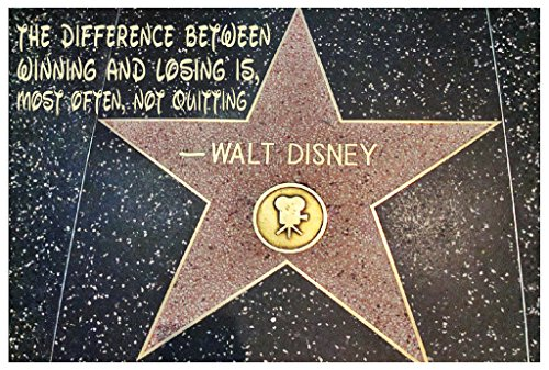 Walt Disney Quote Poster 18-Inches By 12-Inches Premium 100lb Gloss Paper