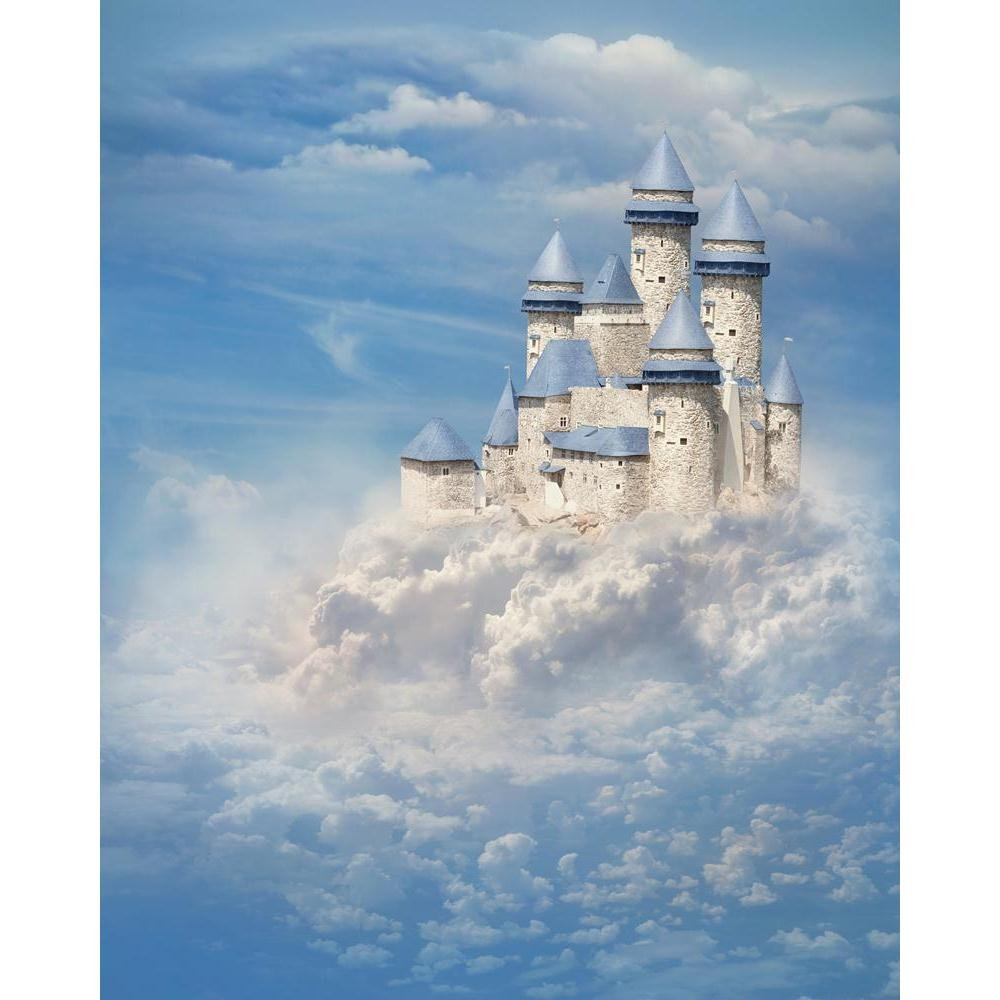 Pitaara Box Fantasy Castle Unframed Canvas Painting 32 40inch x 40inch 32 a50532