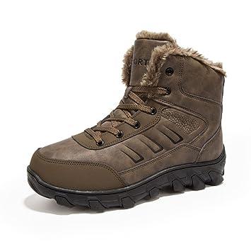 PAMRAY Tactical Botines Ejército Hombre Invierno Calentar Zapatos Deportivas al Aire Libre Combate Botas Suede Boots de Nieve Negro Marrón 38-47: Amazon.es: ...