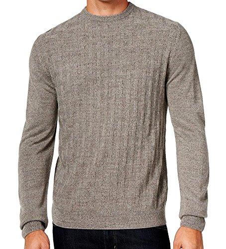 Weatherproof Vintage Mens Basket Weave Crewneck Sweater Small S Gray