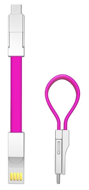 innoGadgets Llavero Cargador USB magnético (3in1, Lady Pink ...