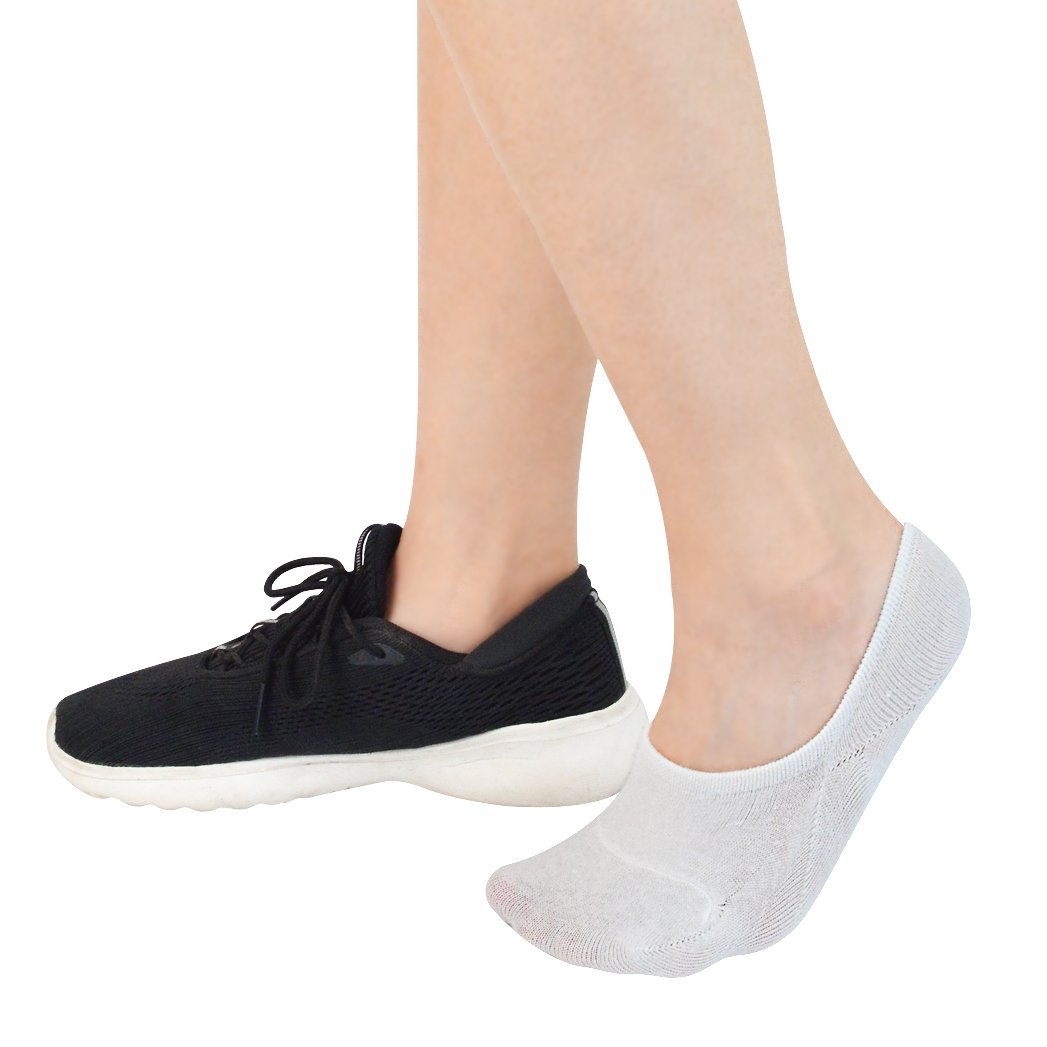 Miayon 12 Pairs Women Casual Socks Low Cut Invisible Socks Pure Cotton Anti-Sliped Boat Socks for Women