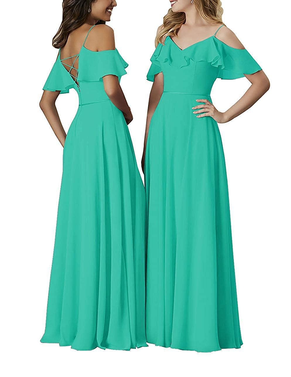 Turquoise Staypretty Bridesmaid Dresses Long Off The Shoulder Simple Formal Gowns for Women