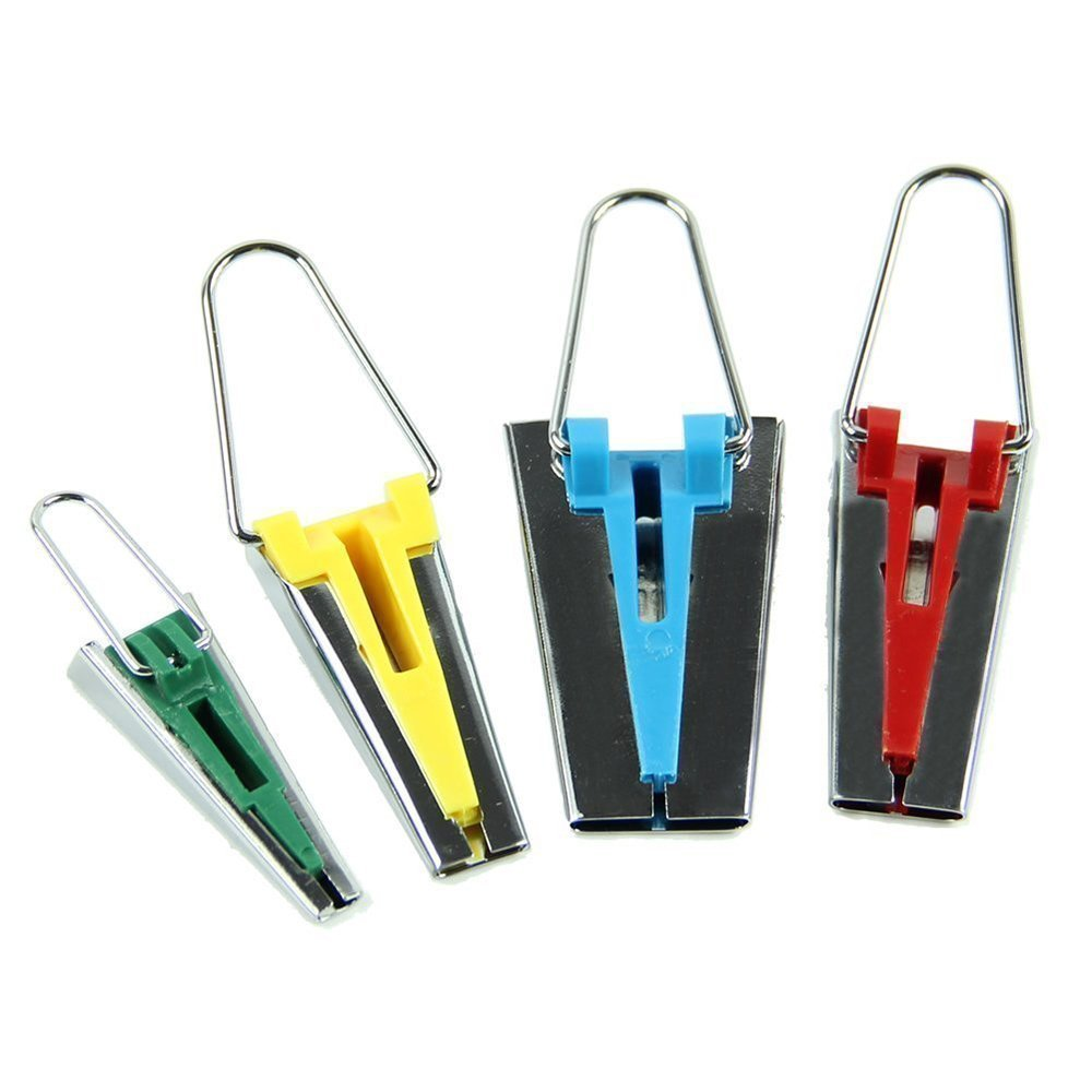 LANYUER Fabric Bias Tape Maker Tool for Sewing Multi-Colour Set of 4 4337014140