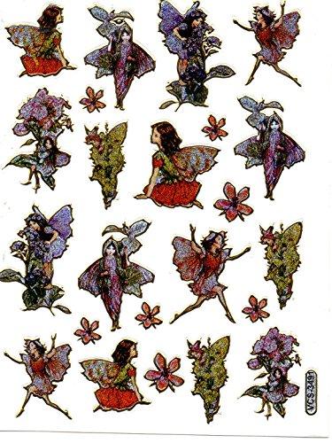 Fairies Glitter Sticker Sheets - fairy dust tale Elf Wing sticker decal Metallic Glitter 1 sheet Dimensions: 13,5 cm x 10 cm A553