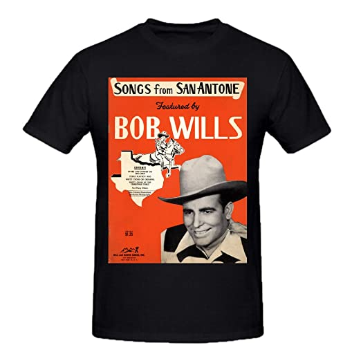 fad489761fa7c Amazon.com  FGEXYZ Design bob wills Mens T Shirts Cotton O neck Black  (7502086236951)  Books