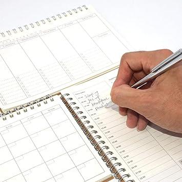 Diario Planificador semanal Cuaderno Caderno Agenda 2020 2019 ...