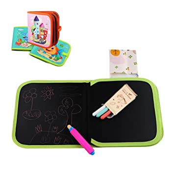 Biback Pintura de Paño de Niños Doodle Pizarra de Tiza Tabla de Dibujo portátil para niños Lavable, Reutilizable,Aprendizaje temprano, Graffiti, Tabla ...