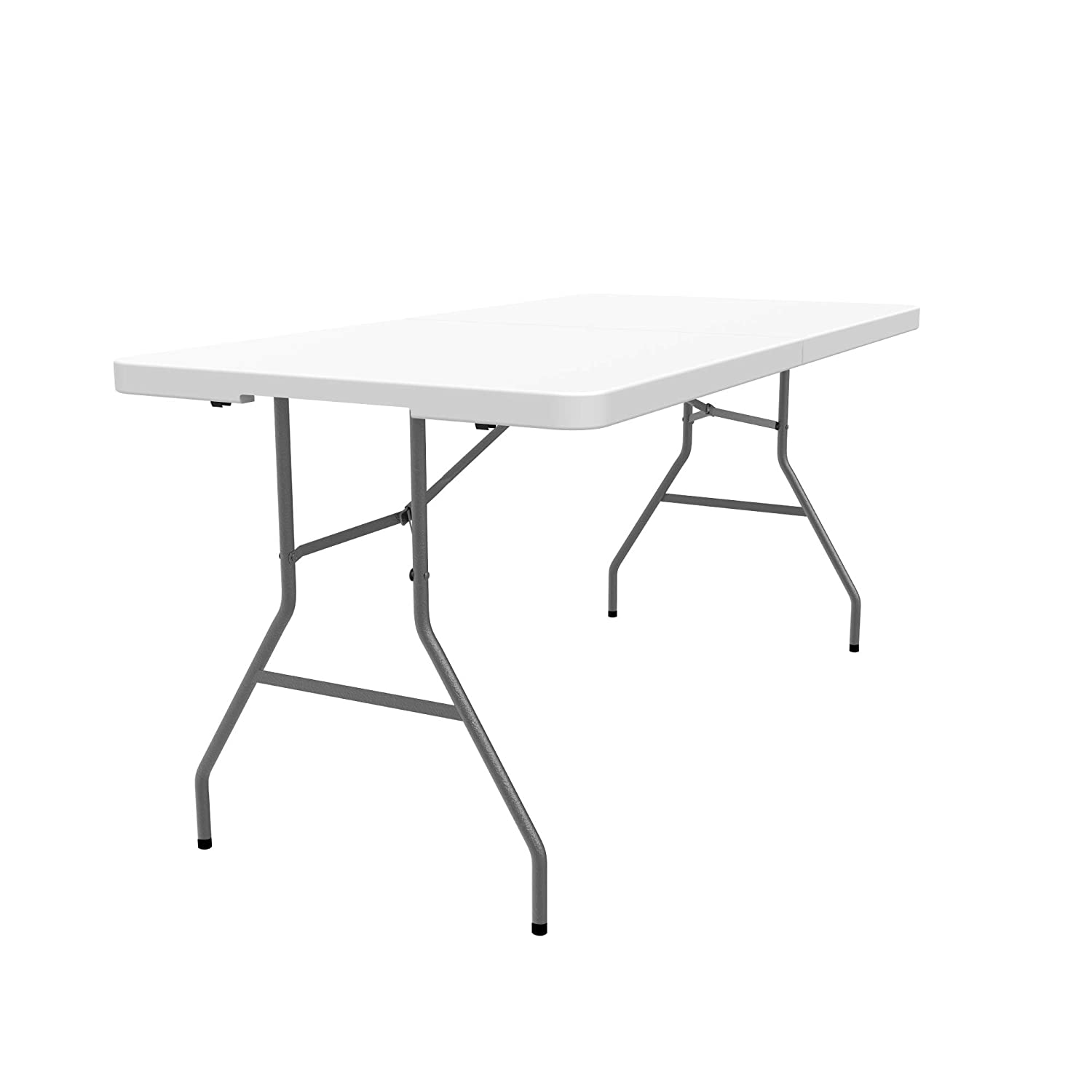Material: HDPE Folding Portable Table Heavy Duty Plastic Table Maximum load: 220 lbs White Todeco 59.8 x 28.1inch Foldable in half