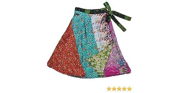 Corto seda patchwork Reversible falda – jedzebel – DN19 | comercio ...