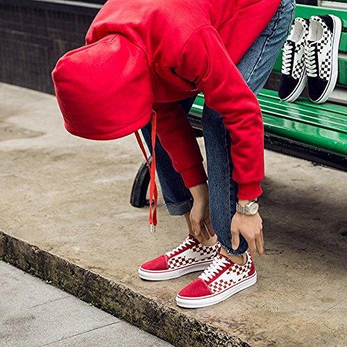 Quadrato Quadrato Quadrato Tela Sportive Rosso Mocassini Uomo Uomo Uomo Uomo Gomma Design in Piatte Suola Sneakers Lacci in Scarpe ZX Casual Sneakers con da Chiusi IxZq1EF