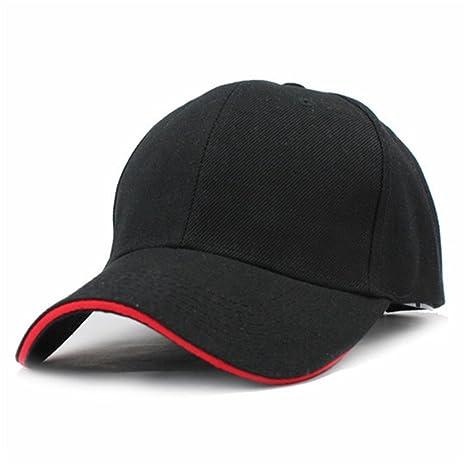 Treytcap Casual Men Baseball Cap Hats For Men Baseball Skateboard Hat F223 Black Red