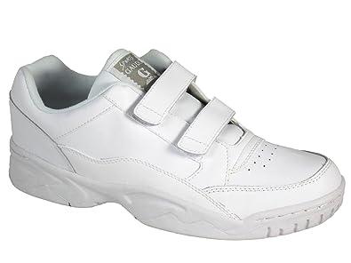 Mens Gaudi Velcro Leather Upper Wide Fitting Trainer White UK 8