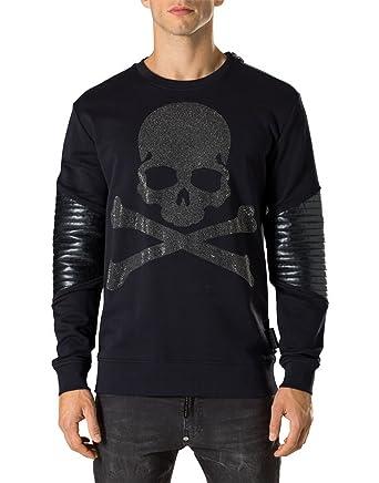 Noir Vêtements Philipp Plein Homme Noir Shirt Sweat RYRvqwBI