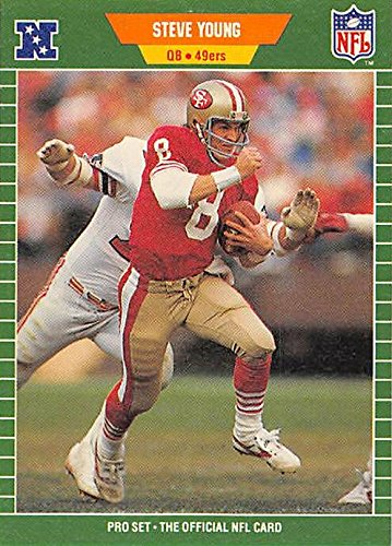 (Steve Young Football Card (San Francisco 49ers) 1989 Pro Set #388)