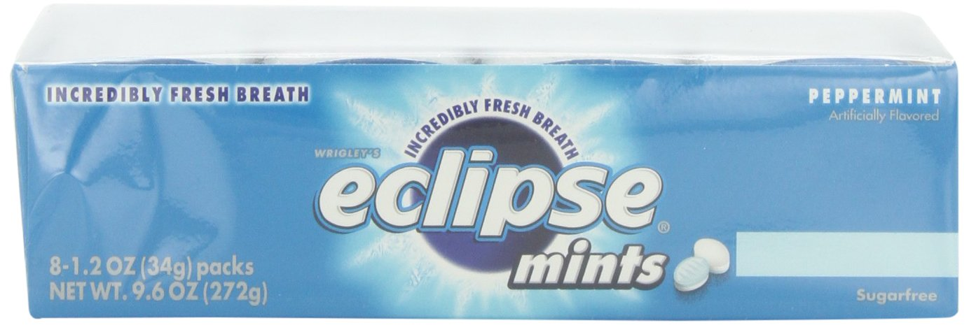 Wrigleys Eclipse Mints Peppermint, 1.2 oz.  (Pack of 8) by Wrigley's (Image #3)