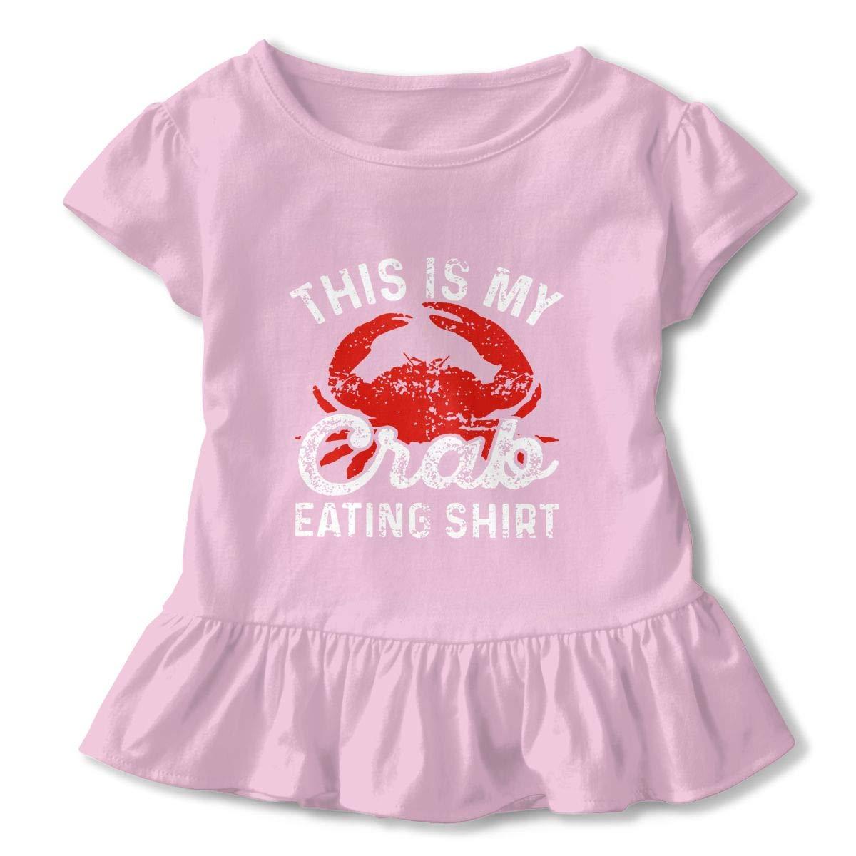 UAJAR Painting Crab Baby Girls Short Sleeve Flounce Dress Comfortable Skirts T-Shirt