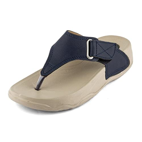 WELCOME Women's Faux Leather Slippers Women's Flip-Flops & Slippers at amazon