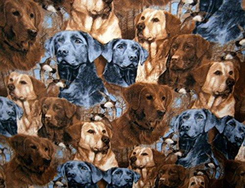 - Dog Prints Labradors Fleece 1 Yard