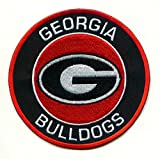 University of Georgia Bulldogs UGA Round G Team Logo Iron on Jersey Patch