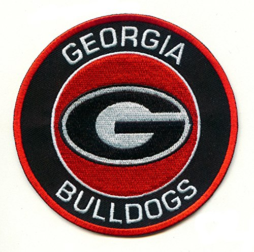 University of Georgia Bulldogs UGA Round G Team Logo Iron on Jersey Patch by Mastodon