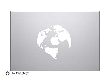 Amazon 2 globe silhouette world map vinyl car sticker symbol 2 globe silhouette world map vinyl car sticker symbol silhouette keypad track pad decal laptop gumiabroncs Gallery