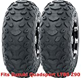 Set 2 WANDA ATV tires 19x7-8 19x7x8 Suzuki Quadsport LT80 Z90 P330