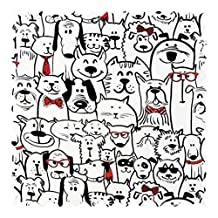 SheetWorld Cats & Dogs Jersey Fabric - By The Yard - 152.4 cm (60 inches)
