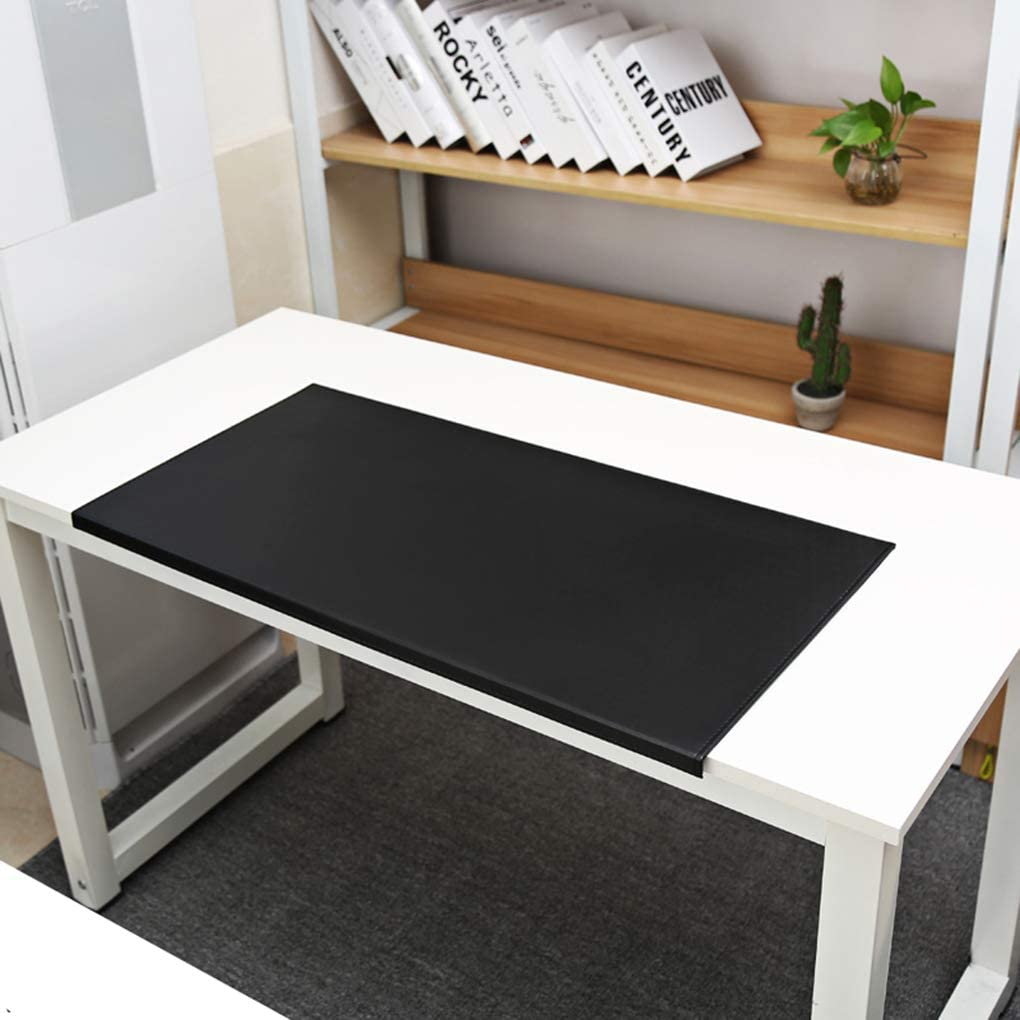 SJASD Office Writing Pad Desk Mat and Gaming Mouse Mat Waterproof Desk Writing Pad for Office and Home,Gray,60x30cm