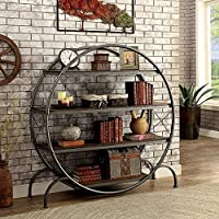 Furniture of America CM-AC520 Sariya Dark Gray Book Shelf Display