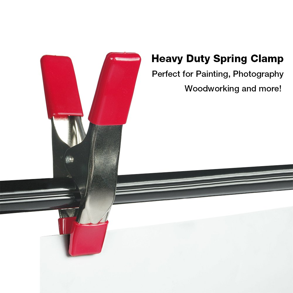 """APL1544 10-Pack EACHPOLE 6/"""" Metal Spring Clamp with PVC Coated Tips and 3/"""" Jaw Opening for Heavy Duty Jobs"""