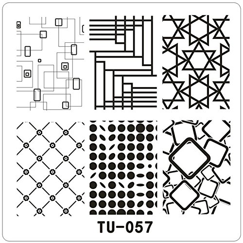 Amazon Com Square Metal Nail Stamping Plates Template Rules