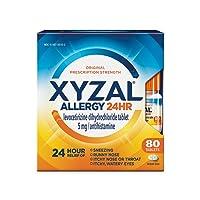 Xyzal Allergy Pills, 24-Hour Allergy Relief, Original Prescription Strength, 80-...