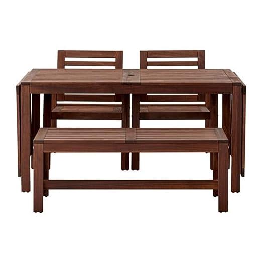 Ikea Applaro 990.539.71 - Mesa con 2 sillones y Banco para ...