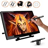 Ugee UG-2150 21.5 Inches LED Graphics Monitor IPS Pen Display HD Resolution Drawing Monitor Dual Monitor with Adjustable Stand, 2 Chargeable Pens, 1 Drawing Glove, 1 Screen Protector