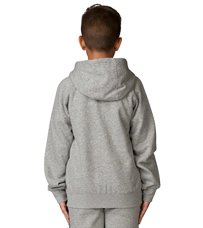 fa9c053c2a0478 Amazon.com  Nike Boy s Air Jordan Retro 3 Fleece Hoodie 953806 042 Size  Small Heather Grey Blue Red  Clothing