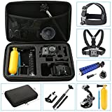 NavTour 10 in 1 Common Outdoor Sports Camera Accessories Kits for Hero Black Silver 5/4/3+/3/2/1 SJ4000 SJ5000 SJ6000 in Swimming Camping Diving Outing Any Other Outdoor Sports