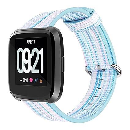 Amazon com: YRD Tech for Fitbit Versa Fine Woven Nylon