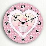 Cheap I Love Cupcakes 12″ Silent Wall Clock