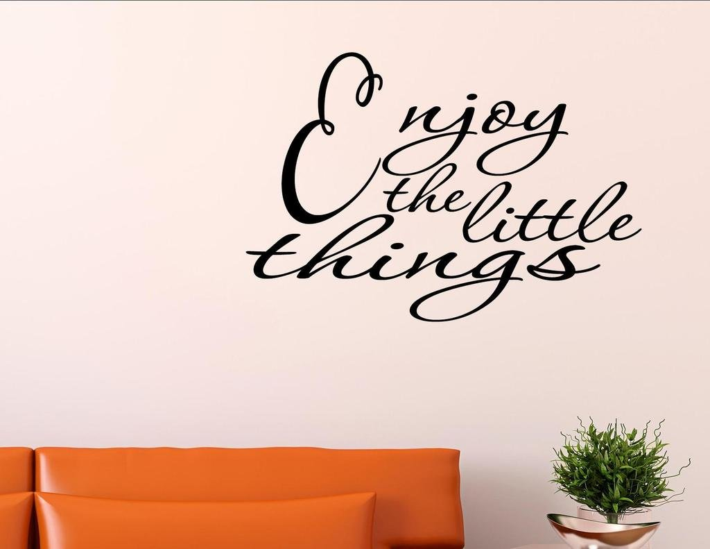 Amazon.com: ENJOY THE LITTLE THINGS Vinyl Wall Quotes Inspirational Sayings  Home Art Deco...: Automotive Part 84