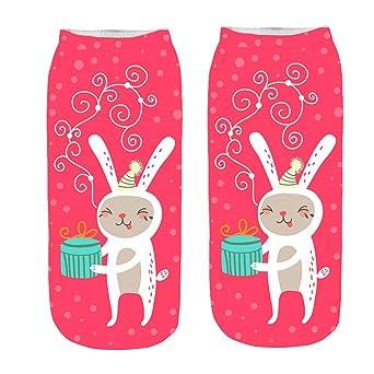 ?HWTOP Knöchelsocken Weihnachten Sneaker Söckchen Unisex Sportsocken Baumwoll Sneaker Ballerina Socken Kurzsocken Lustige 3D