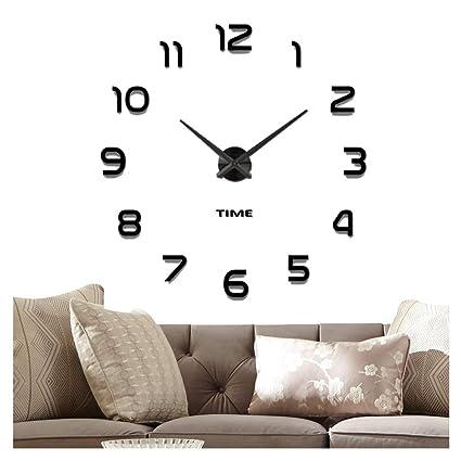 Amazoncom Vangold Frameless Diy Wall Clock 2 Year Warranty 3d