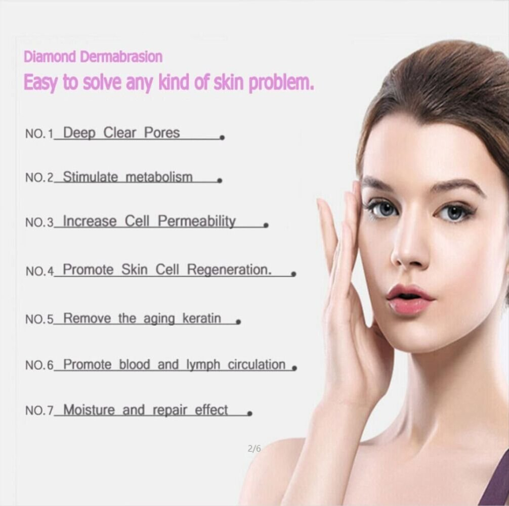 BeautyCC Portable Microdermabrasion System, Utilizes Pore Vacuum Extraction to Promote Skin Health & Facial Renewal, Pore cleaning, Wrinkle removing by BeautyCC (Image #2)