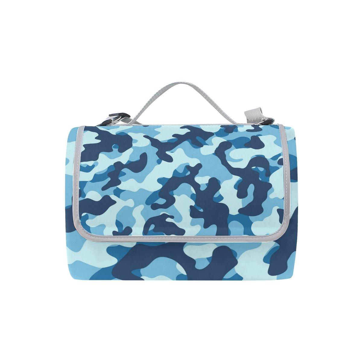 COOSUN Manta de picnic con diseño de de de camuflaje marino, práctica alfombra resistente al moho y resistente al agua para picnics, playas, senderismo, viajes, viajes y excursiones f406ce